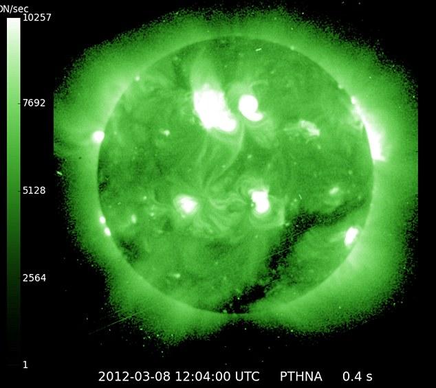 March 2012 solar flares